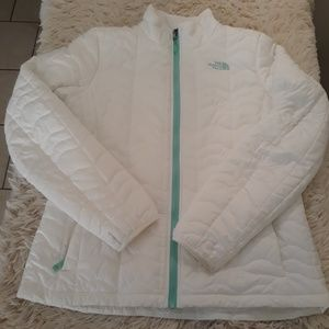 The north face jacket women L white real full zip